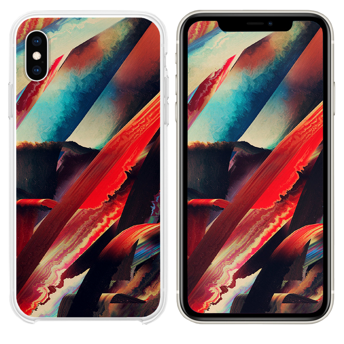 Art paint pattern red dark abstract iPhone XS case