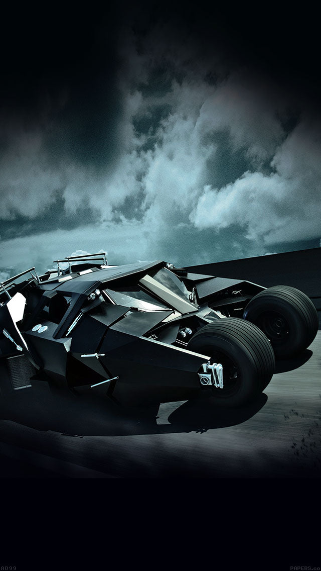 Batcar Batman Highway Art Hero Iphone 11 Pro Max Wallpaper