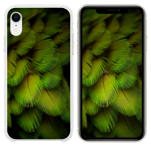 Beautiful feather monster model iPhone XR case