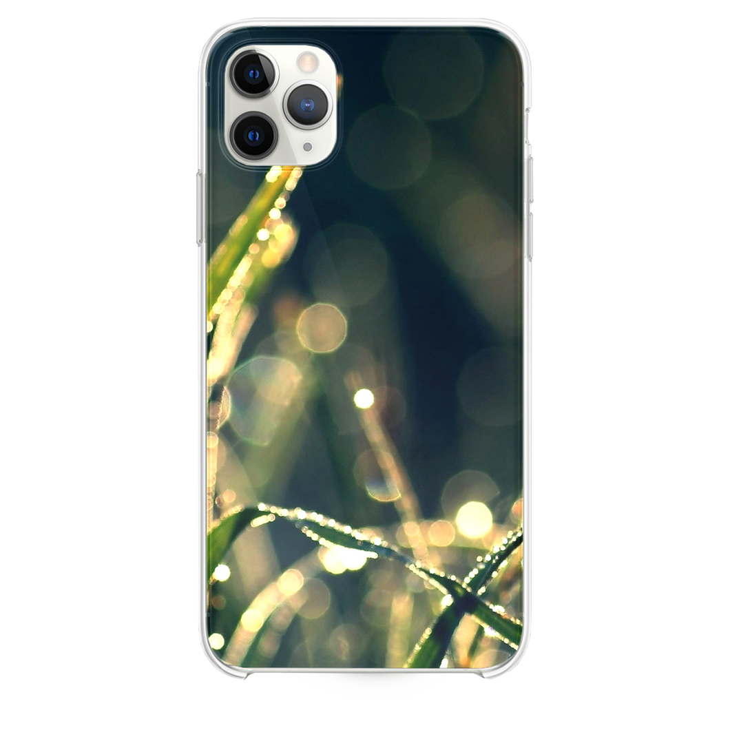 Bokeh Green Grass Drops iPhone 11 Pro Max case