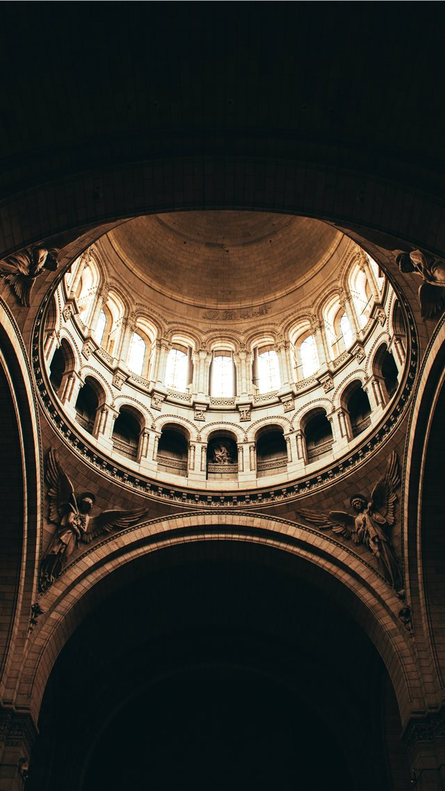 Brown Dome Building Interior iPhone 11 Wallpaper