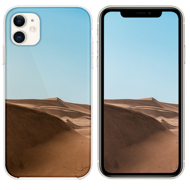 brown sand under white cloudy sky iPhone 11 case