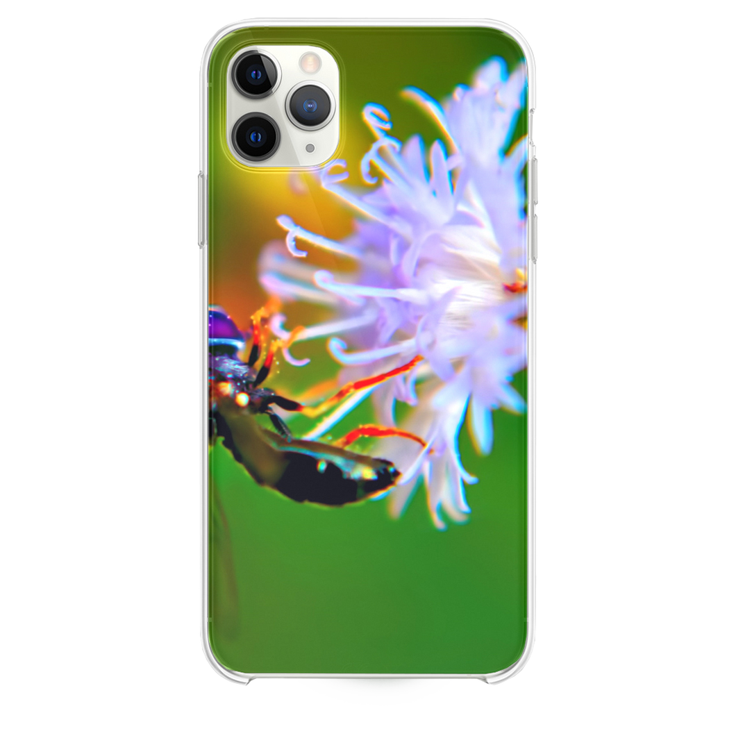 Bug On White Flower iPhone 11 Pro Max case
