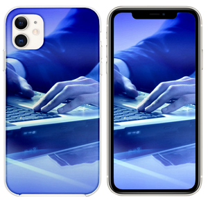 Businessman Hands Keyboard Laptop iPhone 11 case