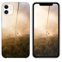 Load image into Gallery viewer, cable car under brown and white sky iPhone 11 case