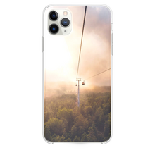 Load image into Gallery viewer, cable car under brown and white sky iPhone 11 Pro Max case