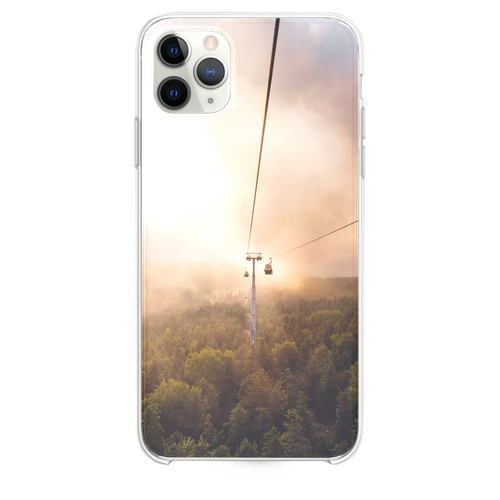 cable car under brown and white sky iPhone 11 Pro Max case