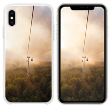 Load image into Gallery viewer, cable car under brown and white sky iPhone XS case
