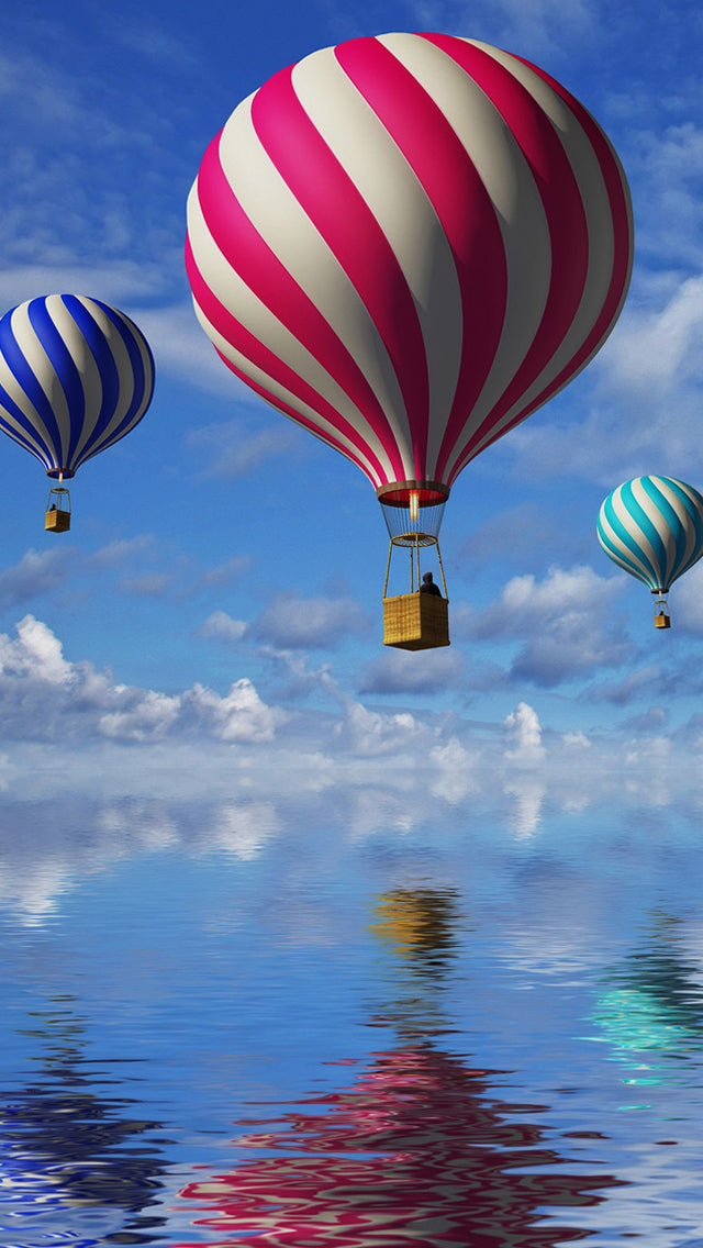 Candy Cane Colored Air Balloons Iphone 11 Pro Max Wallpaper