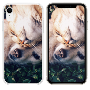 Cat And Dog Animal Love Nature Pure iPhone XR case