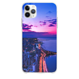 Chicago city night sky view scape ocean beach iPhone 11 Pro Max case