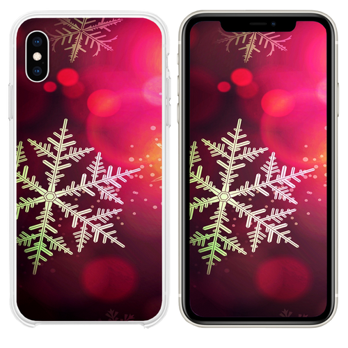 Christmas bokeh holiday pattern iPhone XS case
