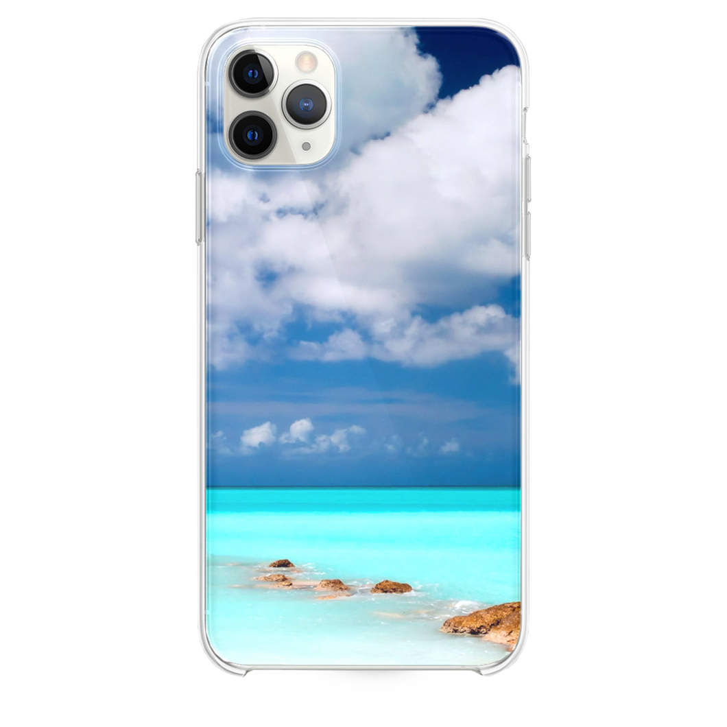 Clear Blue Sea Sky iPhone 11 Pro Max case