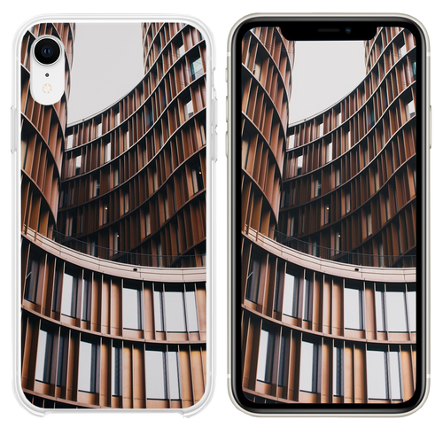 close up photography of brown concrete building iPhone XR case