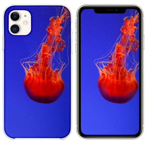 close up photography of red jellyfish iPhone 11 case
