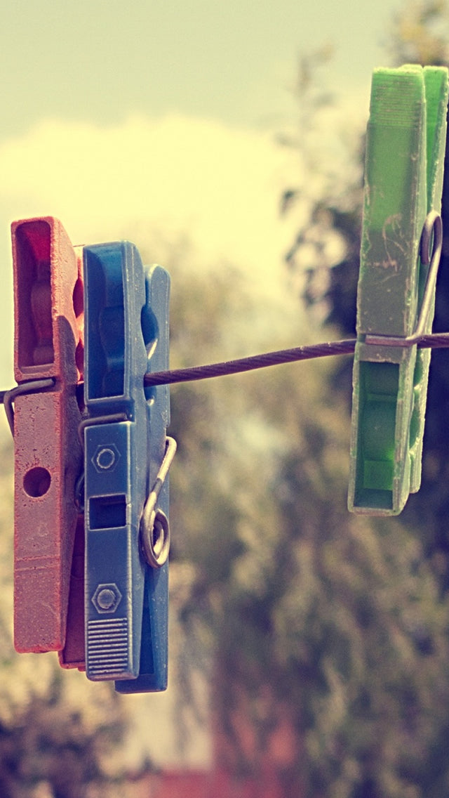 Clothes Lines Colorful Iphone 11 Pro Max Wallpaper