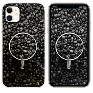 Coffee Bokeh Pattern Bw Dark iPhone 11 case