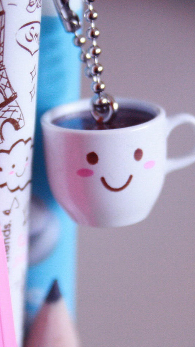 Cute Coffee Cup Beside Pen Iphone 11 Pro Max Wallpaper
