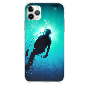 Deep Blue Green Ocean Dive iPhone 11 Pro Max case