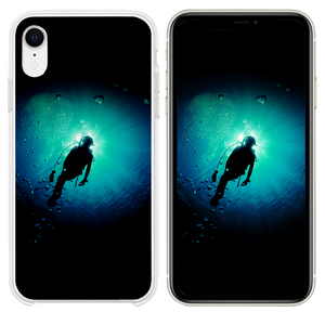 Deep Blue Green Ocean Dive iPhone XR case