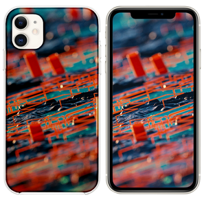 Digital Abstract Zoom Red Pattern Background iPhone 11 case
