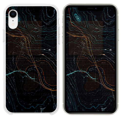 Digital art dark game pattern background iPhone XR case