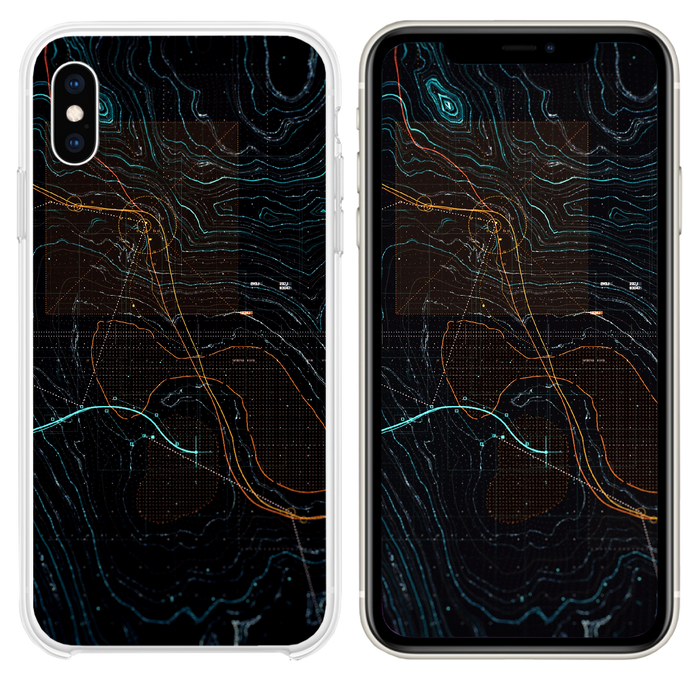 Digital art dark game pattern background iPhone XS case