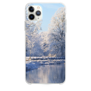 Frozen Mist Forest Lake iPhone 11 Pro Max case