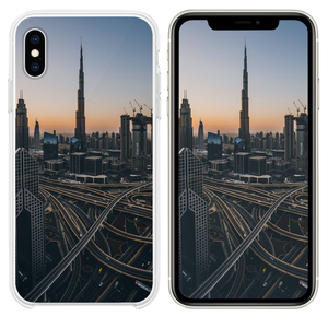 gray high rise building iPhone XS case