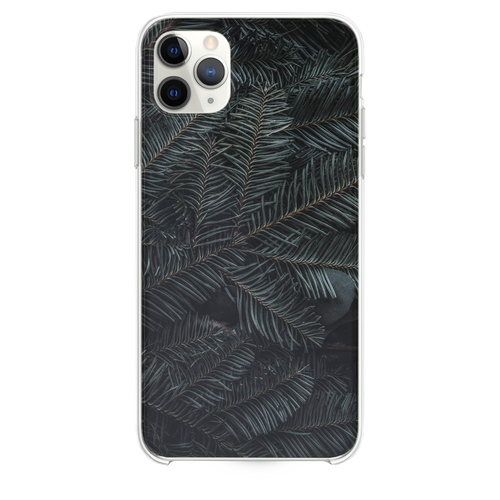 green pine tree leaves iPhone 11 Pro Max case