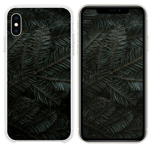 green pine tree leaves iPhone XS case