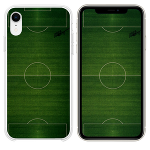 green sports court illustration iPhone XR case