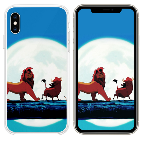 Hakuna Matata Disney Lionking Illust Art iPhone XS case