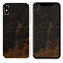 Load image into Gallery viewer, high angle photography of road between trees iPhone XS case