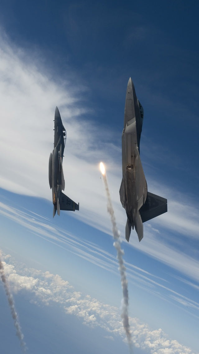 Jet Flying To Space Iphone 11 Pro Max Wallpaper
