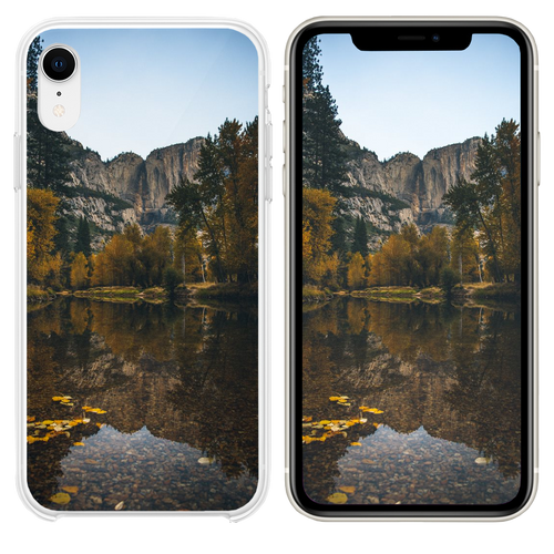 landscape photography of lake surrounded with tree iPhone XR case