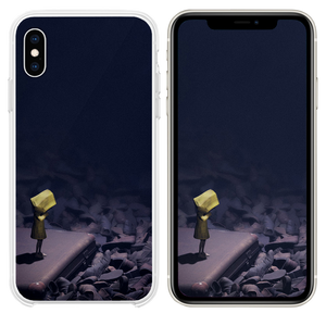 Little nightmares dark anime art illustration iPhone XS case