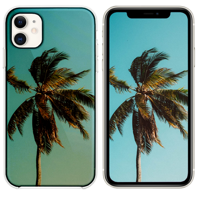 low angle photography of coconut tree iPhone 11 case