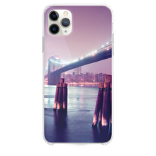 Load image into Gallery viewer, Night Lights River Bridge iPhone 11 Pro Max case