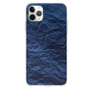 Paper Creased Blue Texture iPhone 11 Pro Max case