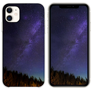 pine trees during nighttime iPhone 11 case