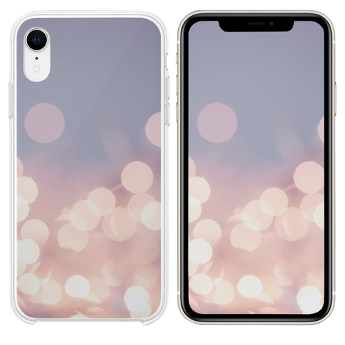 Pretty pastel bokeh fairy lights background  iPhone XR case