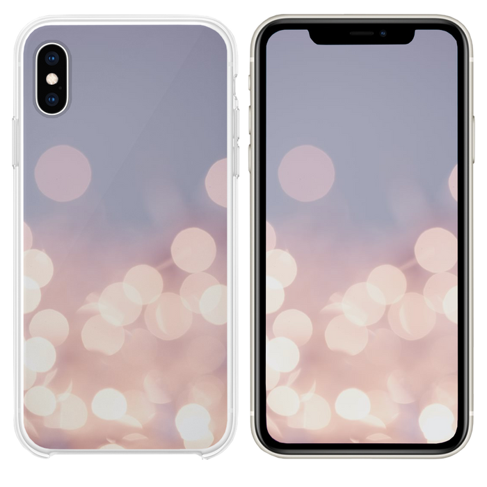 Pretty pastel bokeh fairy lights background  iPhone XS case