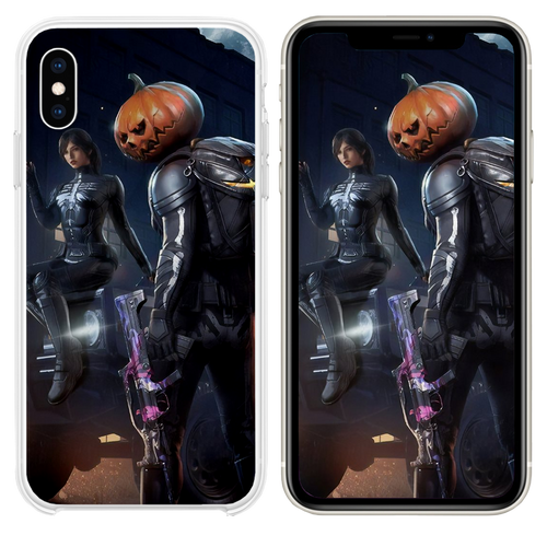 pubg halloween iPhone XS case