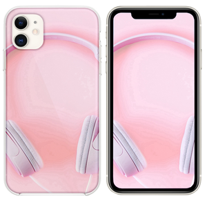 Pure Fashion Headphones Pink iPhone 11 case