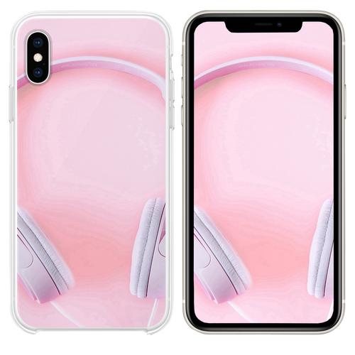 Pure Fashion Headphones Pink iPhone XS case