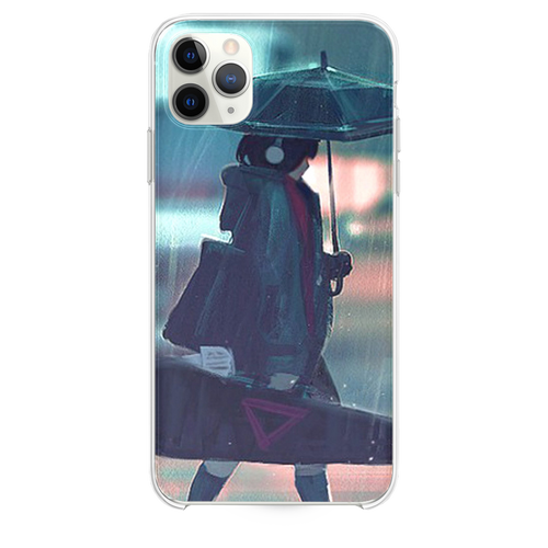 rainy day anime paint girl iPhone 11 Pro Max case