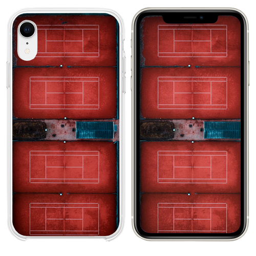 red court illustration iPhone XR case