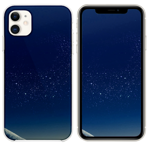 Samsung Blue Galaxy S8 Space Pattern Background iPhone 11 case