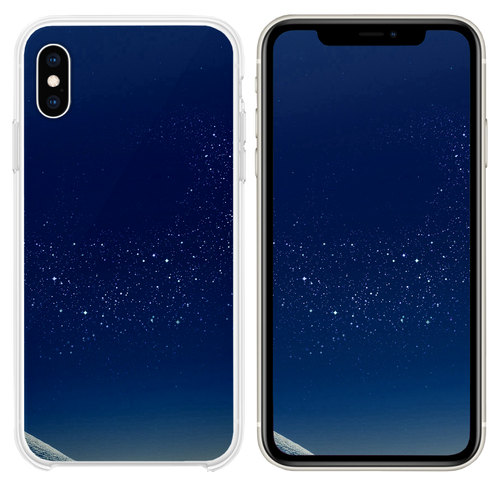 Samsung Blue Galaxy S8 Space Pattern Background iPhone XS case